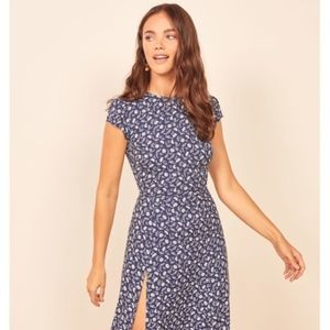 NWT Reformation Gavin Midi Dress - Monterey Size 0
